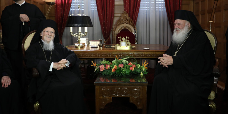 ieronymos-patriarxis-1300 Αναθερμαίνονται οι σχέσεις Φαναρίου - Εκκλησίας της Ελλάδος