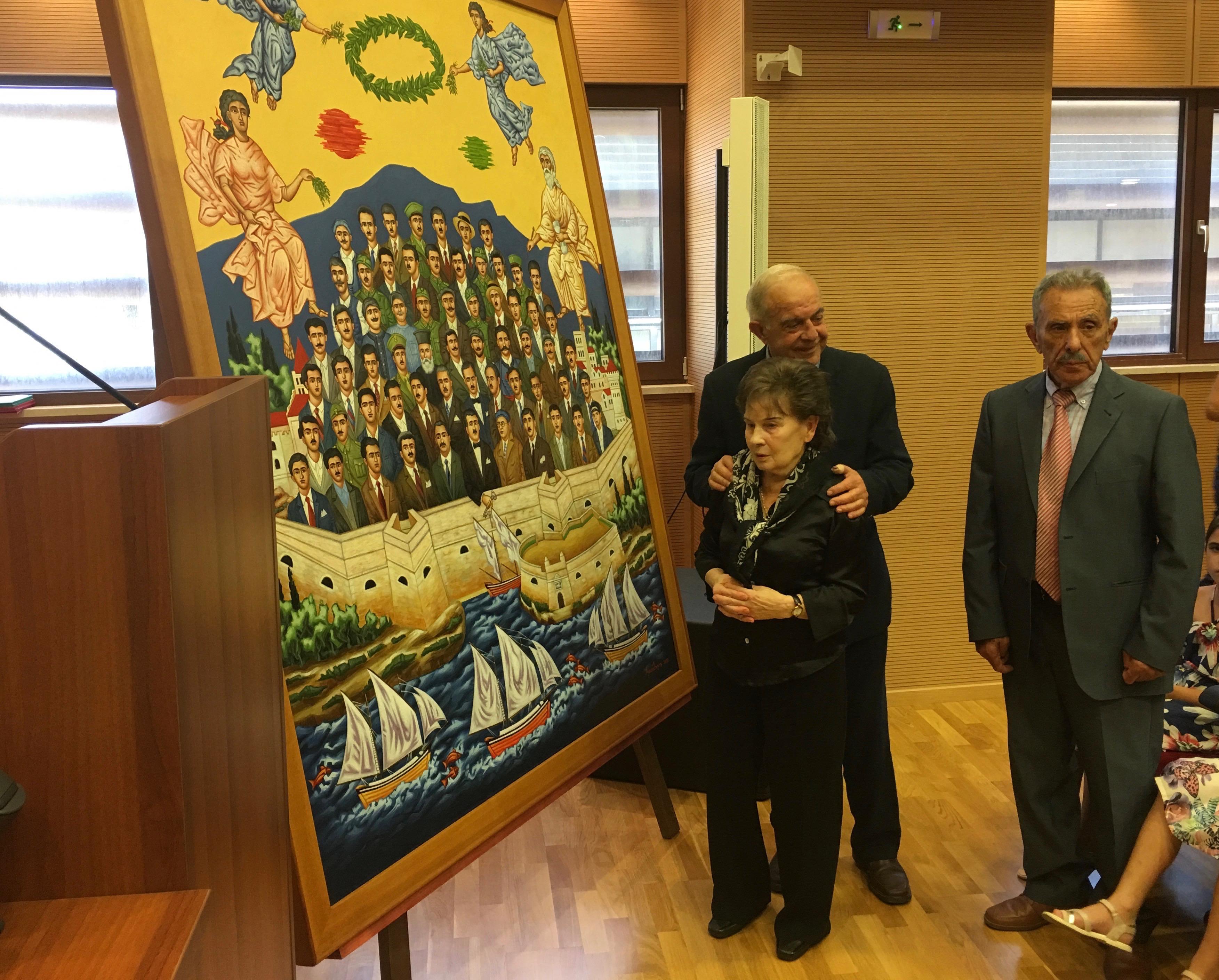 IMG_4847 Συγκίνηση για τον έξοχο πίνακα των 62 Εθνομαρτύρων