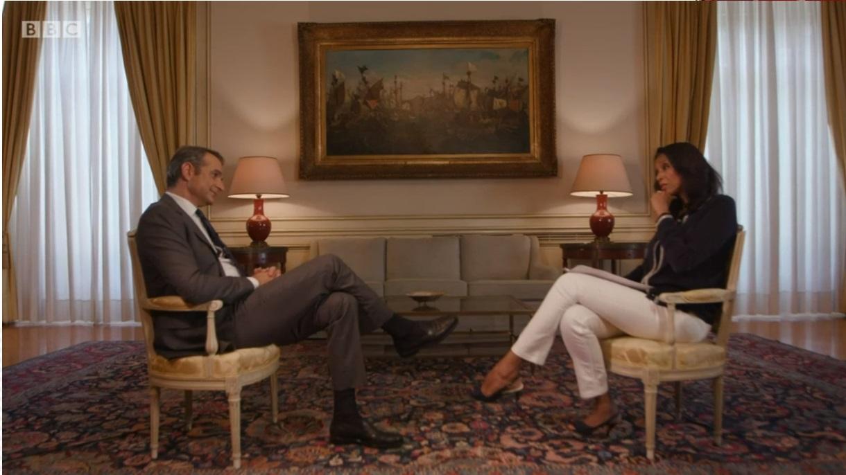 _BBC_03 Τί είπε σε τηλεοπτική συνέντευξη στο BBC ο Κυριάκος Μητσοτάκης