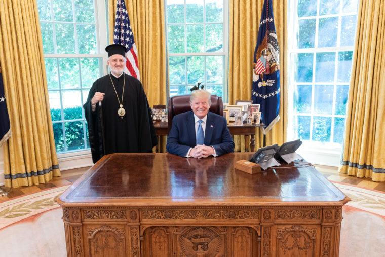 elpi-tramp2 Ο νέος Αρχιεπίσκοπος Αμερικής Ελπιδοφόρος στον Πρόεδρο Τραμπ
