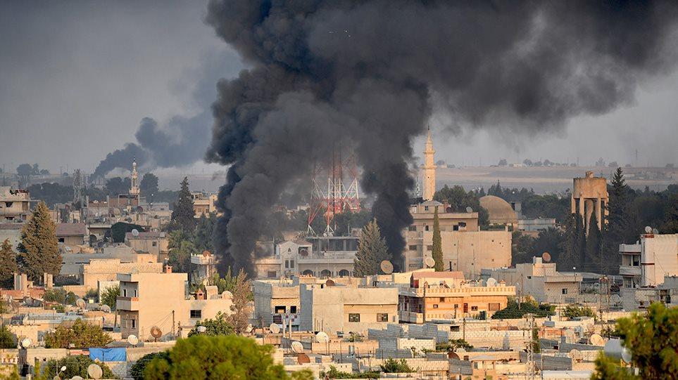 operation-spring-arthro Φλέγεται η βορειοανατολική Συρία μετά την εισβολή των Τούρκων - Άρχισε και η χερσαία επιχείρηση